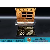 China Casino Dragon And Tiger High-Grade Pure Copper Entertainment Bet Card Table Limit Sign wholesale