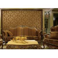 China European Style Wet Embossing peel and stick wall covering 0.685*8.32M Different Colors wholesale