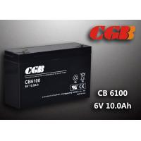 China CB640 Alarm Lighting Backup 6v 10ah Battery Non Spillable Maintenance Free wholesale