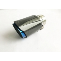 China Carbon Fiber Glossy 175mm 2.5 Inlet 3.5 Outlet Exhaust Tip wholesale