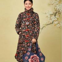 China Long Vintage Chinese Embroidered Jackets 150g-200g Down Weight For Autumn on sale