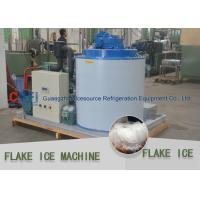 China Water Cooled 5 Ton Flake Ice Machine With Bitzer Compressor PLC Control wholesale
