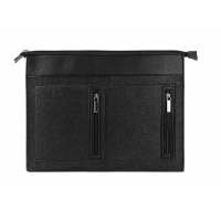 China 15 Waterproof Embroidery Felt Laptop Sleeve Case With Zipper Pockets on sale