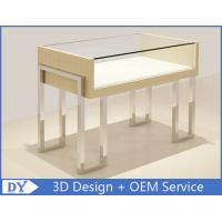 China High End Mirror Stainl Steel Jewelry Store Counter With lock wholesale