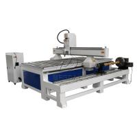 China Removable  4 Axis 1325 Woodworking  CNC Engraving Machine with Dia 300 Rotary Axis Holder wholesale