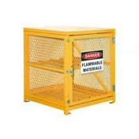 China Steel Gas Cylinder Storage Cages , Lpg Gas Bottle Storage Cages 139 LBS Weight wholesale