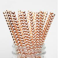 Buy cheap Colorful Gold Stamping Wave Pattern Decorative Paper Drinking Straws Customized from wholesalers