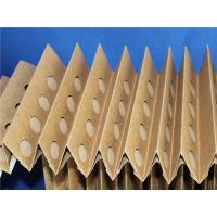 Buy cheap Accordion Painting Pleated Furnace Filters Brown Craft Paper 60mm Depth from wholesalers