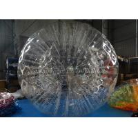China Clear 2.8m X 1.8m TPU Inflatable Zorb Ball Human Bumper Ball For Family Party wholesale