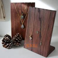China Wooden Retail Mdf Jewellery Necklace Display Stands Handmade Craft wholesale