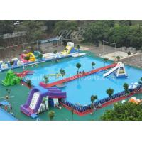 China Funny Inflatable Water Parks With Large Rectangular Metal Frame Swimming Pool wholesale