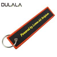 China Promotional cheap embroidered key rings, customized made embroidery keychain with various logo wholesale