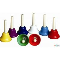 China Orff Toy Music Instrument , Colorful 8 Note Hand Bell Set wholesale