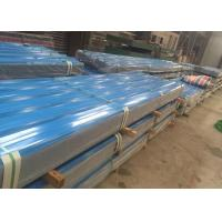 China Reliable Color Coated Steel Roofing Sheet 30 - 120g / Sqm PE Zinc Coating wholesale