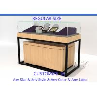 Quality Luxury Retail Shop Wood Glass Jewelry Display Counter With Light for sale