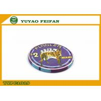 China Purple Miami Ept Ceramic Poker Chips Professional With A Lovely Dog wholesale