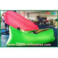 China Nylon Cloth Custom Inflatable Products Air Sleeping Couch With Logo Print And Label on sale