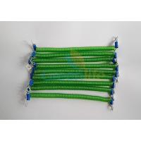 China Customized 15CM Length Green Steel Wire Safe Spring Coiled Strap Strings w/2pcs Metal Eyelets wholesale
