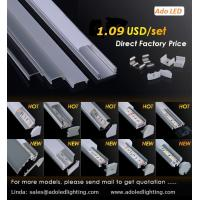 Quality LED Aluminum Profile Black Anodized 6063-T5 national standard alumimum led profile for led strips for sale