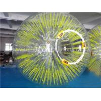 China Inflatable Human Sized Hamster Ball Yellow Shinning 0.8mm Thickness wholesale