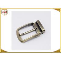 China Environmental Safety Plating Reversible Belt Buckle With CNC Engrave Logo wholesale