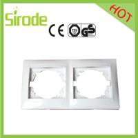 China Double Gang Switch Socket Plate White 9206 Style wholesale