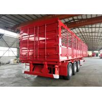 China Carbon Steel Semi Truck Trailer / Semi Low Bed Trailer 30-60 Tons wholesale
