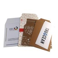 China 100% Recycled Kraft White Paper Mailer Bag with Self-adhesive strip wholesale
