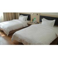 China Interior Luxury Hotel Furniture Bedroom Sets Twin Beds With TV Stand Non Toxic wholesale