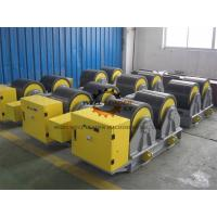 China Manual Adjustable PU Tank Turning Rolls 40T Loading Capaicty CE Standard wholesale