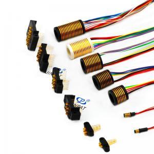 China 0.77mm Pin Distance Separate Rotor Slip Ring Flexible Transmitting Weak Signal Combination wholesale