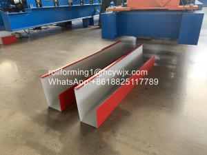 China Canoa Pachuca Rain 20 Rows 0.6mm Gutter Forming Machine wholesale