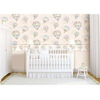 Quality Heat Insulation Kids Bedroom Wallpaper For Wall Decoration , Hot Air Balloon Pattern for sale