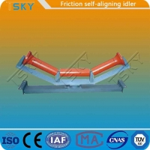 China JIS Standard Rubber Steel Friction Self Aligning Idler wholesale