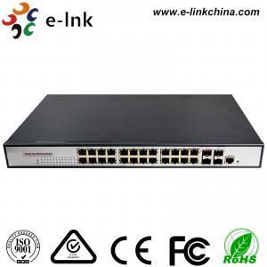 China 650W Rugged Ethernet Switch 22 Port 10 / 100 / 1000Base-T + 2 Combo + 2 (1000M) SFP wholesale