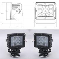 China 60W Square Vehicle LED High Power Driving Lights , 6500K 4800 Lumen 12 Volt Led Work Lights wholesale