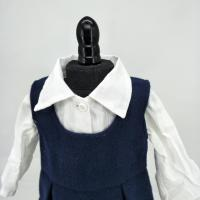 China Chinese factory white blouse with blue skirt suit for 18inch baby girl doll wholesale