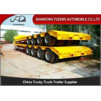 China 150 - 200 Ton Heavy Duty Lowboy Trailer For Construction Machines 4 Lines 8 Axles on sale