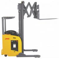 China 1.8 Ton Reach Truck Forklift Forward Double Scissor 36V Electric Control High Efficiency wholesale