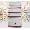 China 3 Layer Supermarket Display Shelving Pharmacy Display Racks With LED Light wholesale