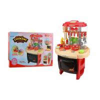 China Red Color Pretend Play Childrens Toy Kitchen Sets With Sound And Light 62CM wholesale