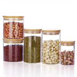 China China supplier hand made boroslicate clear glass food storage jar on sale