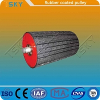 China Coal Mining Rubber Coated 25mm Conveyor Drum Pulley wholesale