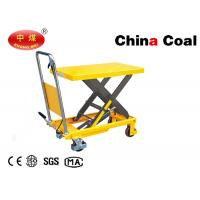 China Portable Logistics Equipment PTD Manual Hydraulic Hand Trolley Lift for Warehouse on sale