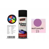 China High Efficiency Rubber Coat Spray Paint Matt Purple Color For Wood on sale