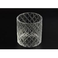 China Pillar Cut Glass Candle Holders Decorative Glassware Customizable wholesale