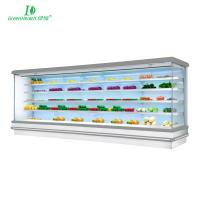 China Commercial Vegetable Refrigerated Display Case Open Chiller Fan Cooling wholesale