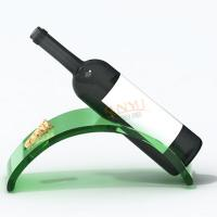 China Red Advertising Display Stand Acrylic Wine Bottle Holder For Wine Promotion wholesale