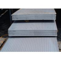 China Lentils Surface Checker Plate Steel Sheets / Coil Thickness 3mm - 12mm wholesale