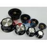 China Plastic Guitar AMP Volume Knob 6.0mm Black Phenolic Fluted Knob With Aluminum Cap wholesale